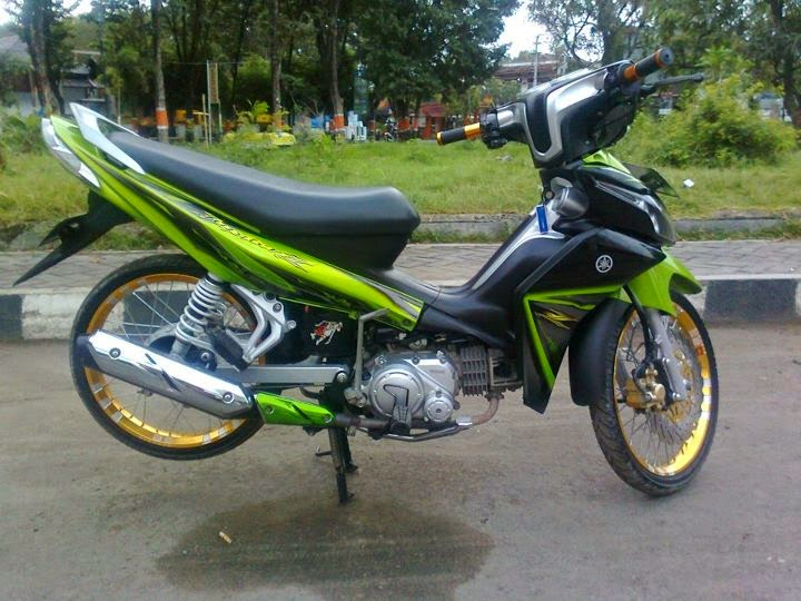 foto modifikasi jupiter z warna hijau 2012