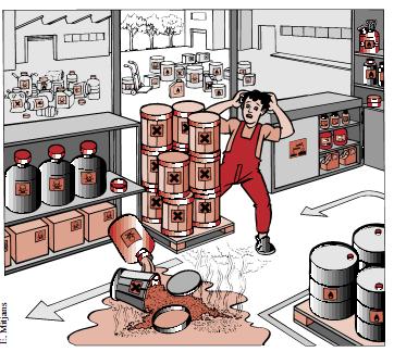 Almacenamiento,Sustancias Químicas, Análisis de casos