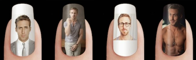 Ryan Gosling nail stickers