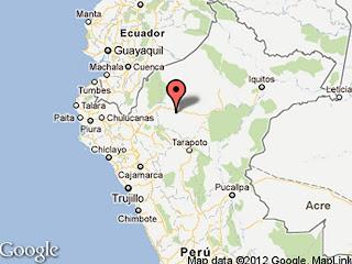 Epicentro sismo en Perú, 04 de Abril de 2012