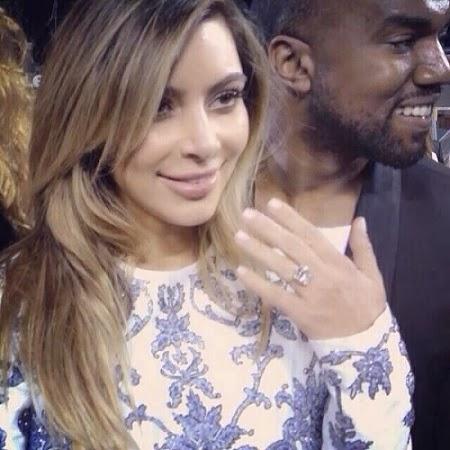 kanye west kim kardashian engaged