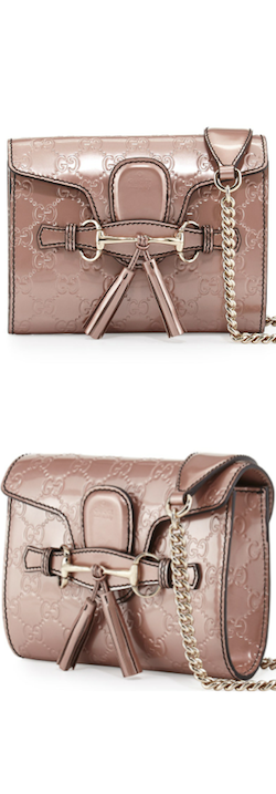 Gucci emily guccissima mini crossbody bag