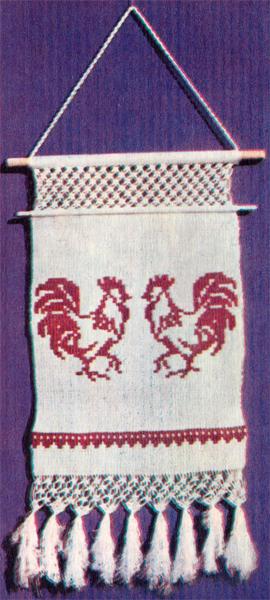 """Схема плетения панно """"Петушки"""""""