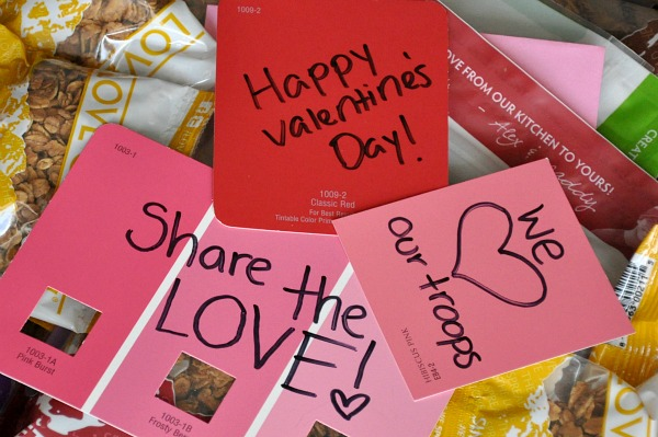 love granola warm fuzzies military care package valentines day