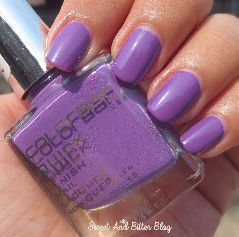 Colorbar Slassy Orchid Quick Finish Nail Lacquer Review Swatch