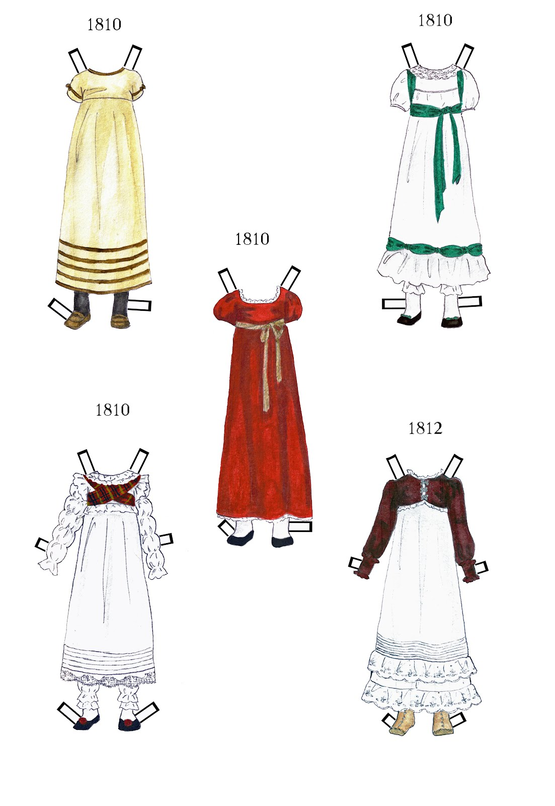 Paper Angel Designs Paper Doll Josephine And Early 1800s