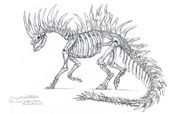 How to Draw a Dragon Skeleton