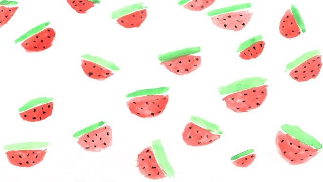 http://theproperblog.com/diy/printed-watermelon-wallpaper/