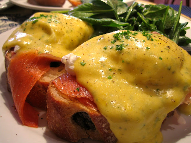 Estelle's: Smoked Salmon Eggs Benedict....Christmas Brunch is Served
