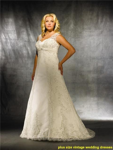 plus size vintage wedding dresses