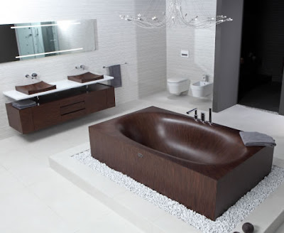 Wooden bathtub design