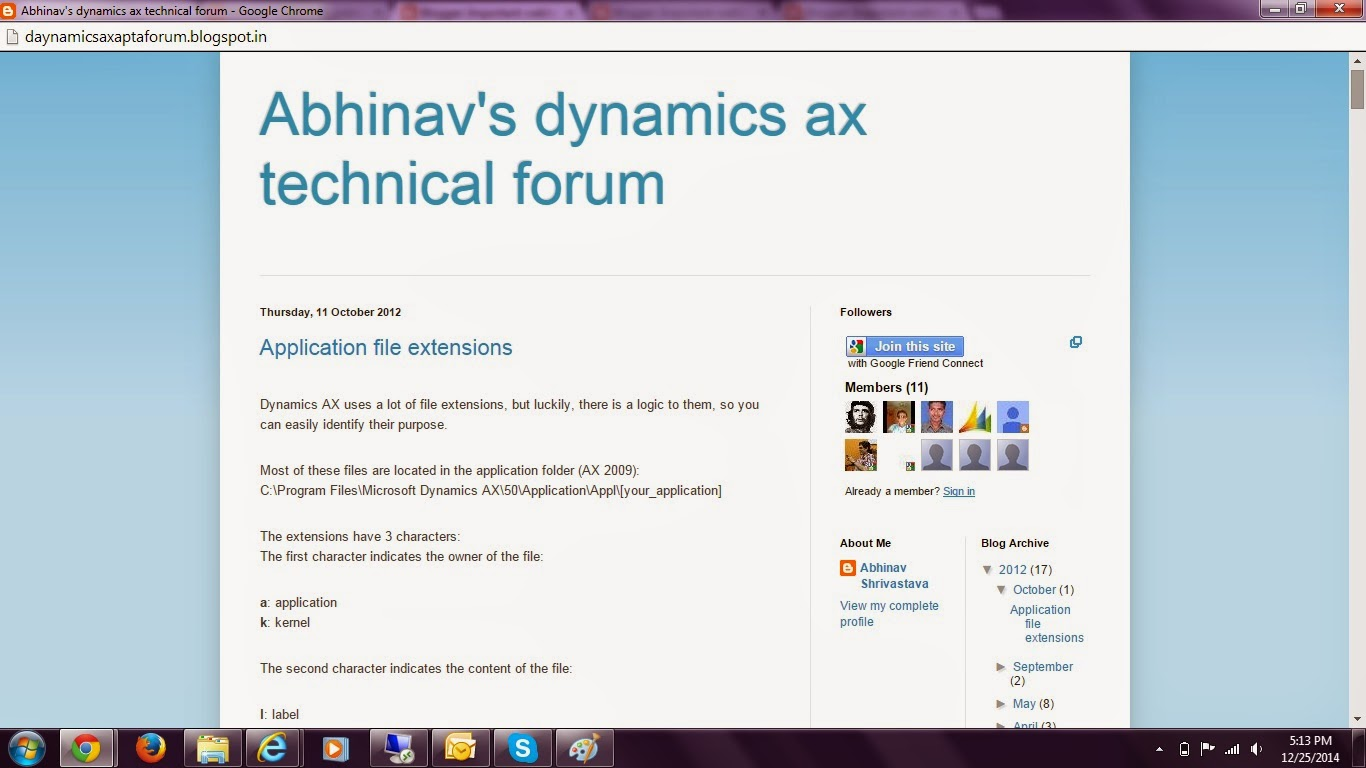 Dynamics Ax technical forum