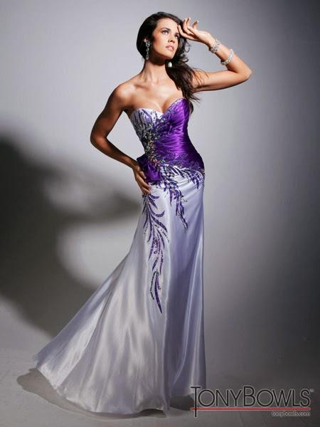 Дълга рокля от сатен за бал 2014