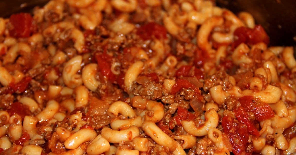 recipe: macaroni and tomatoes with ground beef [1]