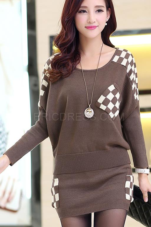 http://www.ericdress.com/product/Casual-Joker-Grid-Sweater-Dresses-Suits-11028954.html