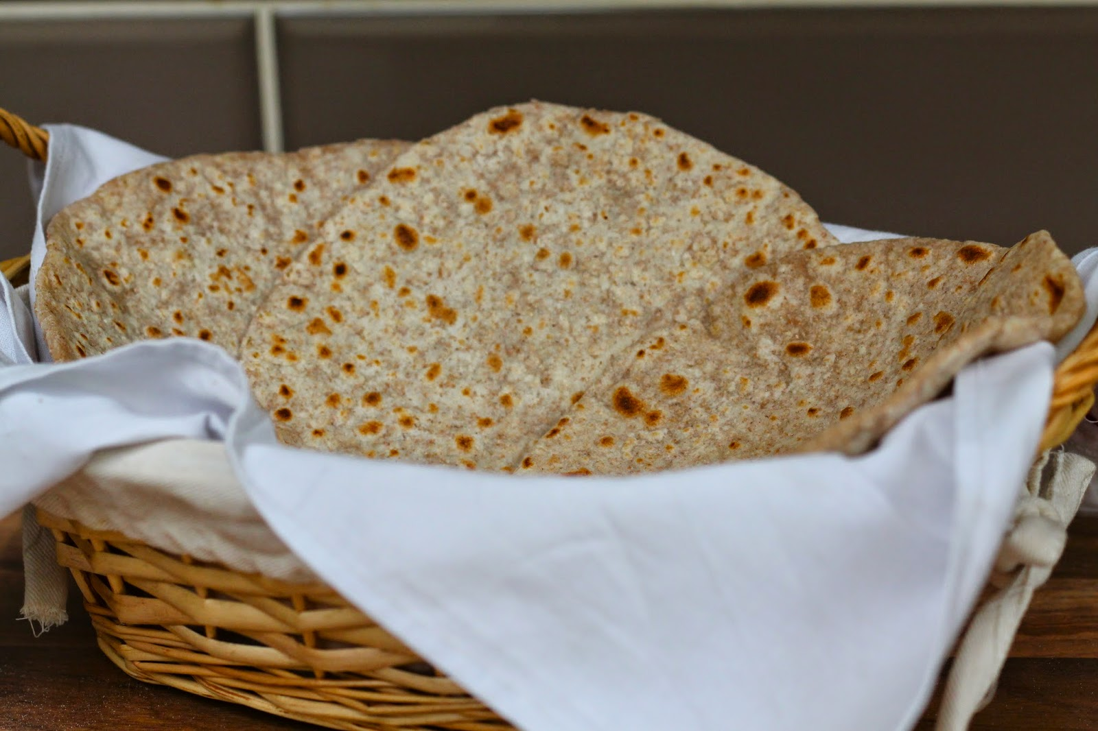 Bread basket of cooked roti/chapatti