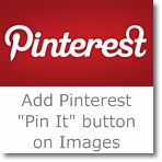 How to add 'Pinterest Pin It' button on images of Blogger blogs