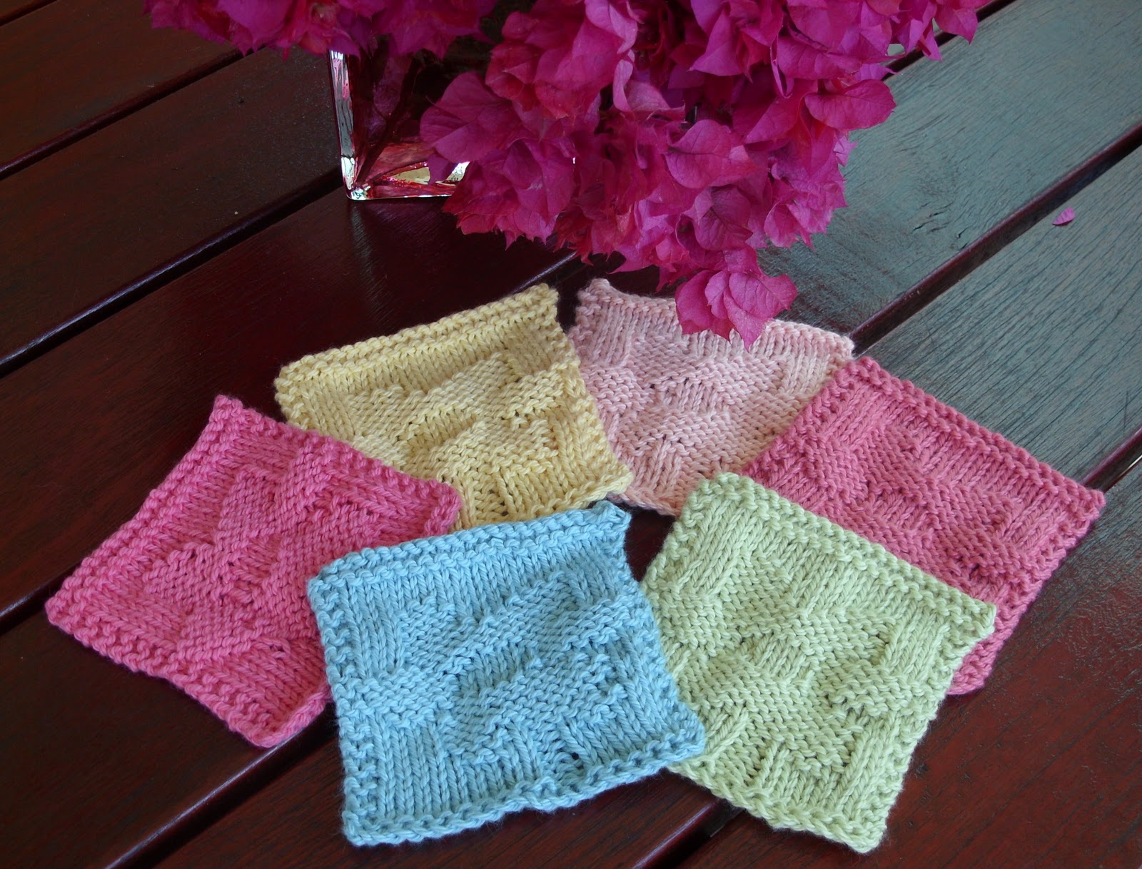 Colorful Knit Coaster Pattern Ideas - Sewing Pattern for Wedding ...