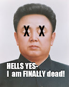 Made this little tribute artwork to Official Wingnut Kim Jong il. (kim jong il portrait)