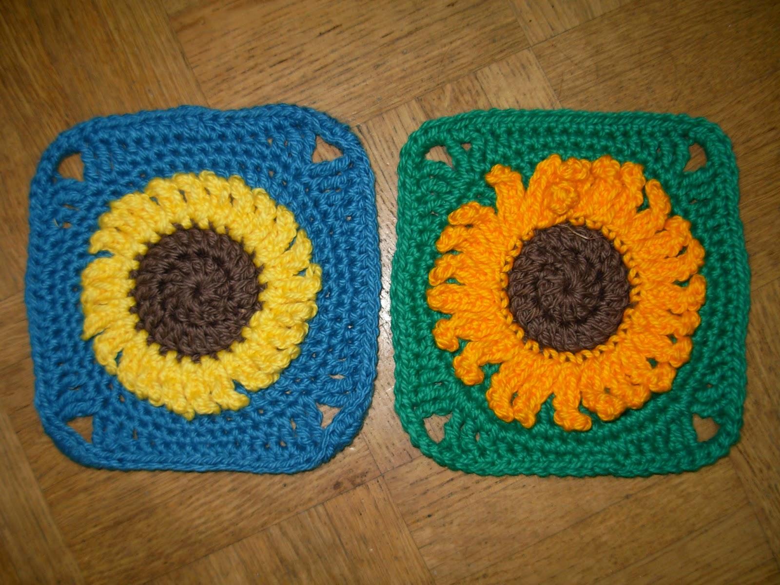 Granny Square sunflower