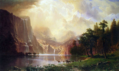Between the Sierra Nevadas by Albert Bierstadt