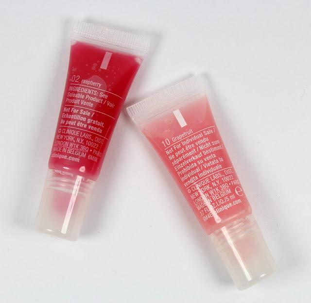 Clinique Superbalm Moisturizing Gloss Raspberry (02) & Grapefruit (10)