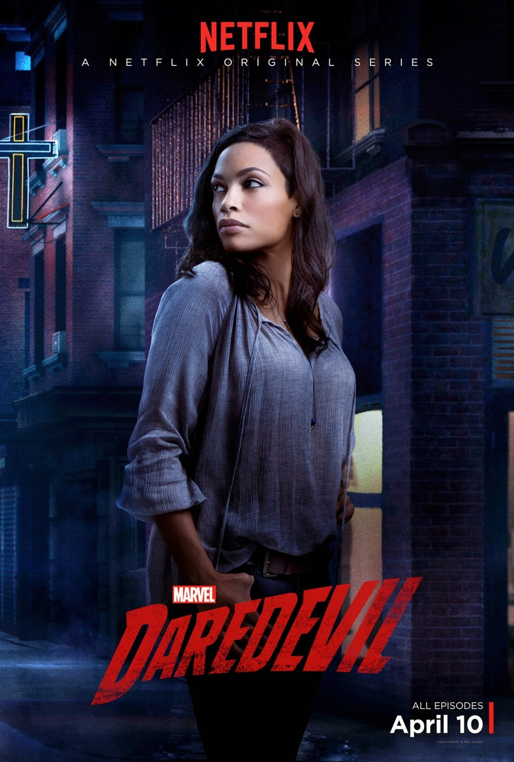 Marvel's Daredevil Character Television Poster Set - Rosario Dawson as Claire Temple