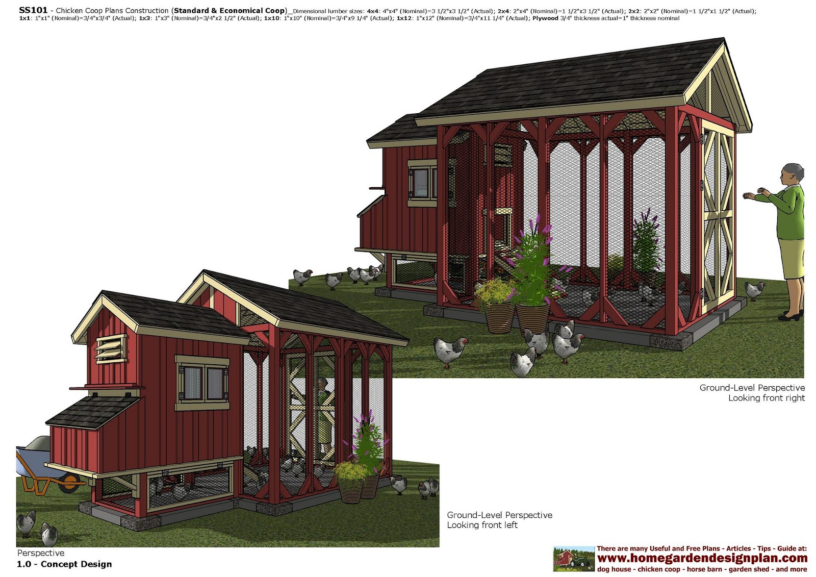 Home garden plans ss101 chicken coop plans construction Home run architecture