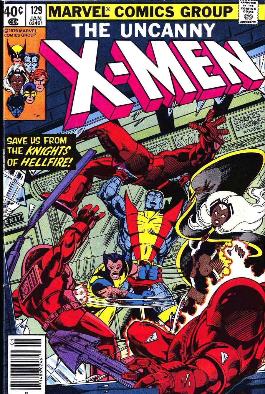 X-men #129 - John Byrne art & cover - Pencil Ink