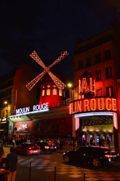 Mouline Rouge, mlýn, mill, Montmartre, Paris