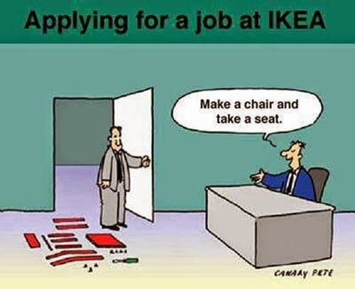 Applying for a job at IKEA cartoon