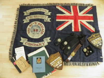 Sams flags boys brigade colours old colour and other memorabilia on display in my church thecheapjerseys Choice Image