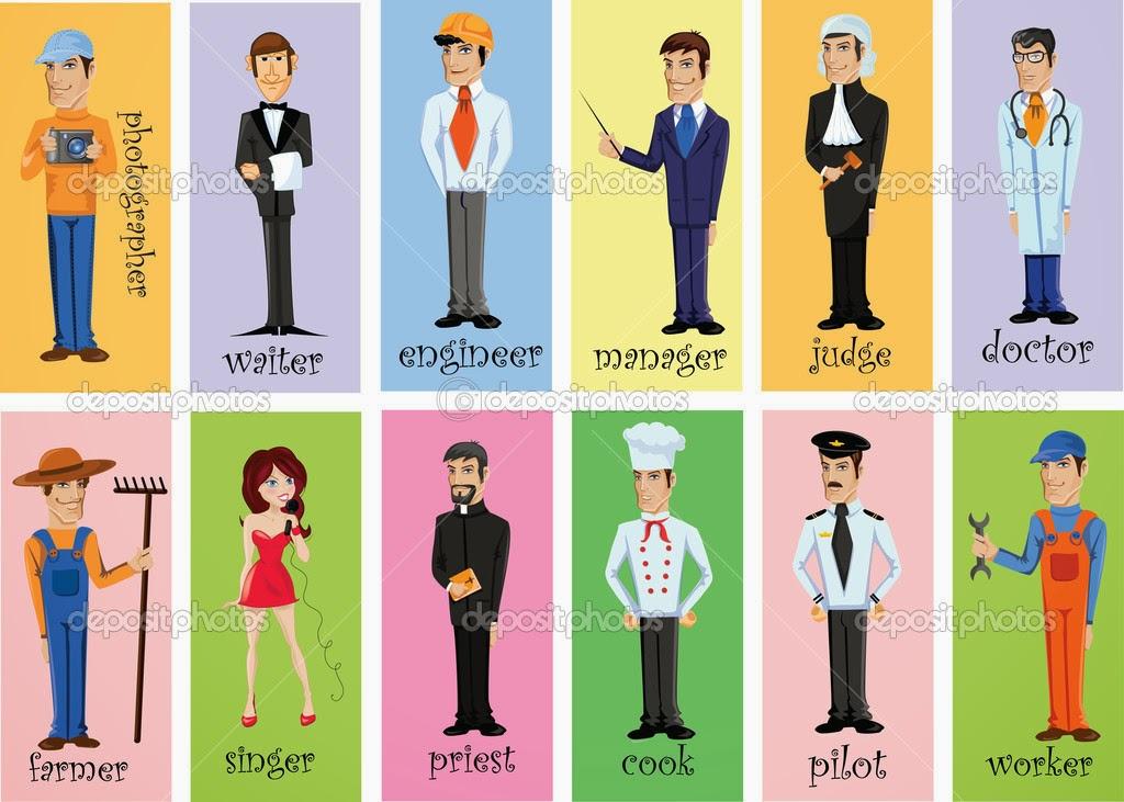Cartoon Characters Jobs : Entermediate english ii
