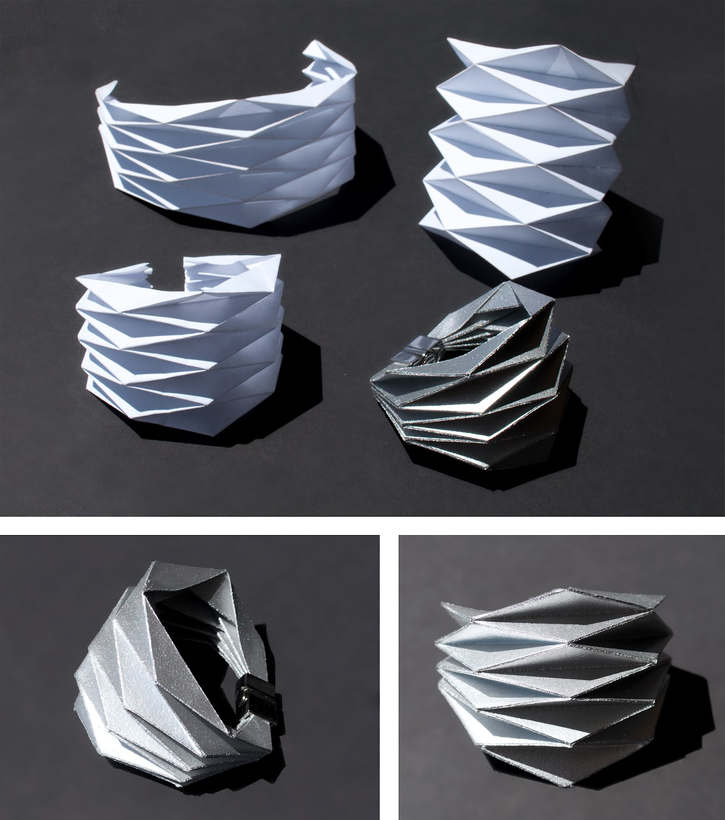 concreate diy project origami bracelet