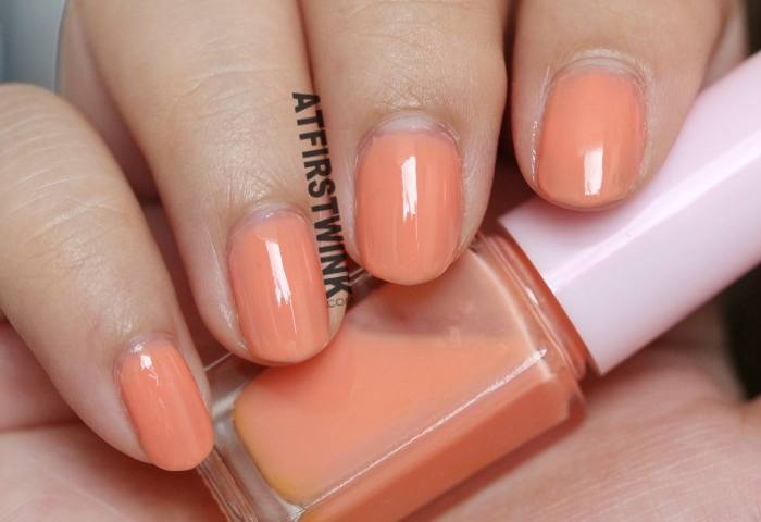 Etude House Juicy Cocktail gradation nails #1 Screw Driver nail polish 1 Soft Orange