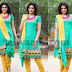 Sakshi Chowdary Green Churidar
