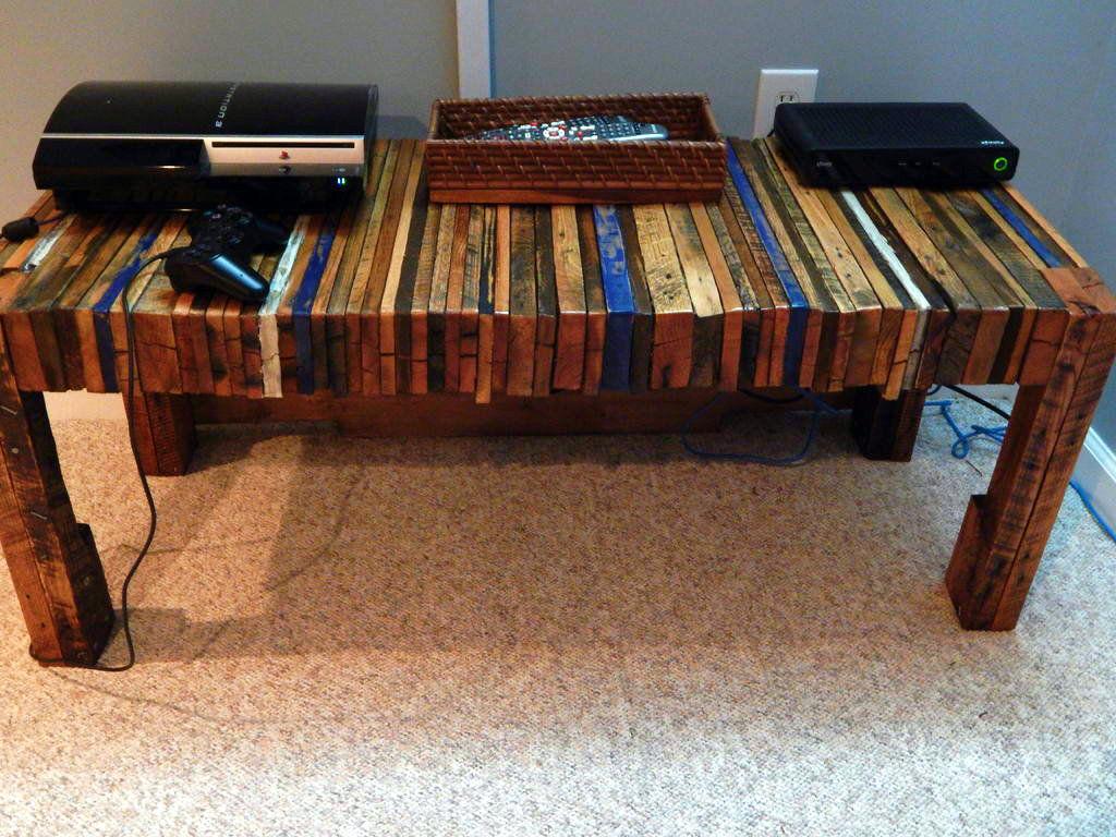 Como fazer mesa para consoles (rack) de madeira de palete pallete  #6E3B24 1024x768