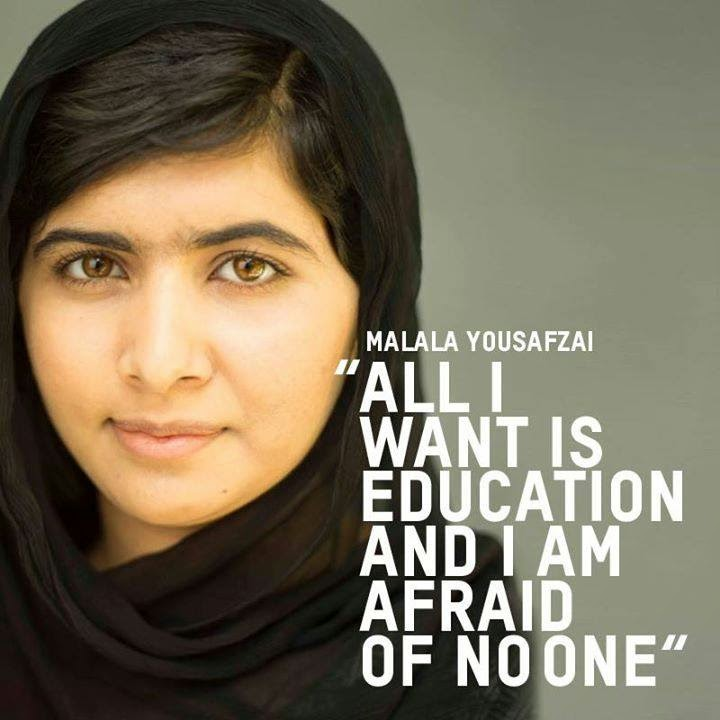the life of inspiration of malala yousafzai 338 quotes from malala yousafzai: 'we realize the importance of our voices only when we are silenced', 'one child, one teacher, one book, one pen can change the world', and 'when the whole.