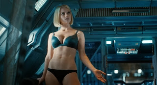 Alice Eve as Carol in Star Trek Into Darkness, Starfleet head's daughter, hot scene, Star Trek Into Darkness (2013), Directed by J. J. Abrams
