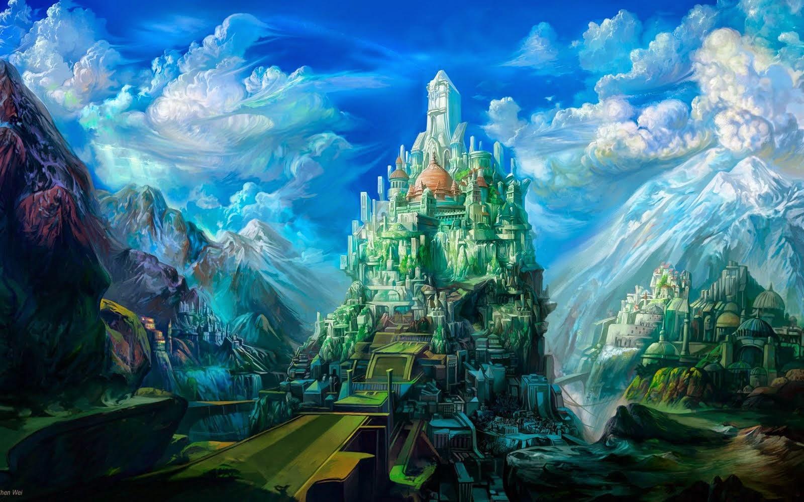 Il rifugio degli elfi paesaggi fantasy questa volta for Paesaggi fantasy immagini
