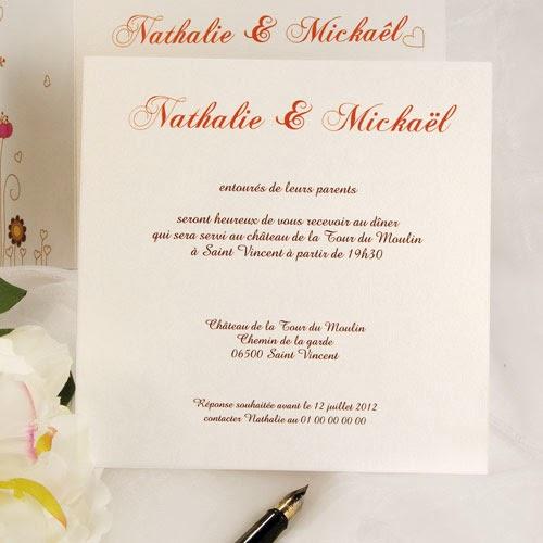carte mariage invitation invitation mariage carte mariage texte mariage cadeau mariage. Black Bedroom Furniture Sets. Home Design Ideas