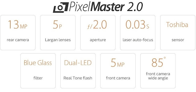 Zenfone Max 6 PixelMaster-2.0 13MP-rear-5MP-front-camera 5p-lenses-laser-auto-focus Toshiba-Sensor Blue-Glass-Filter DUAL-LED-Flash 85-degree-wide-Angle