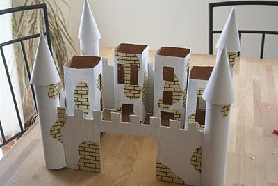 Simples Aprender Castelo De Princesas Feito De Papel Reciclável