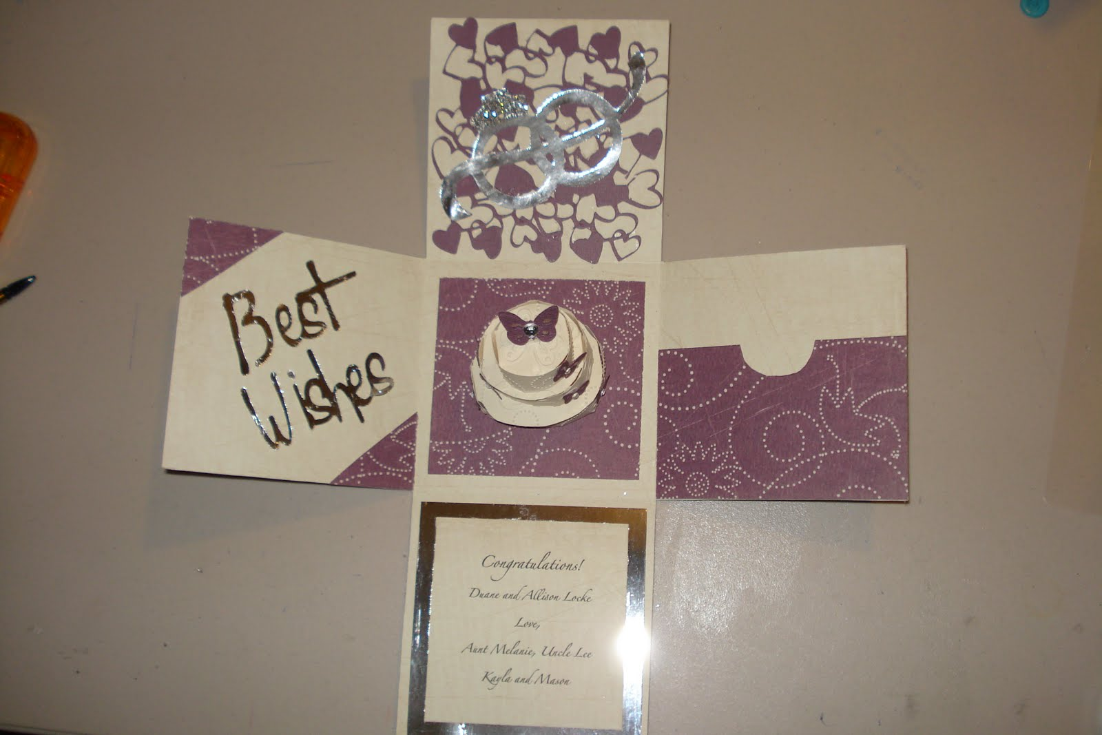 How to scrapbook wedding cards - Wedding Card Holder