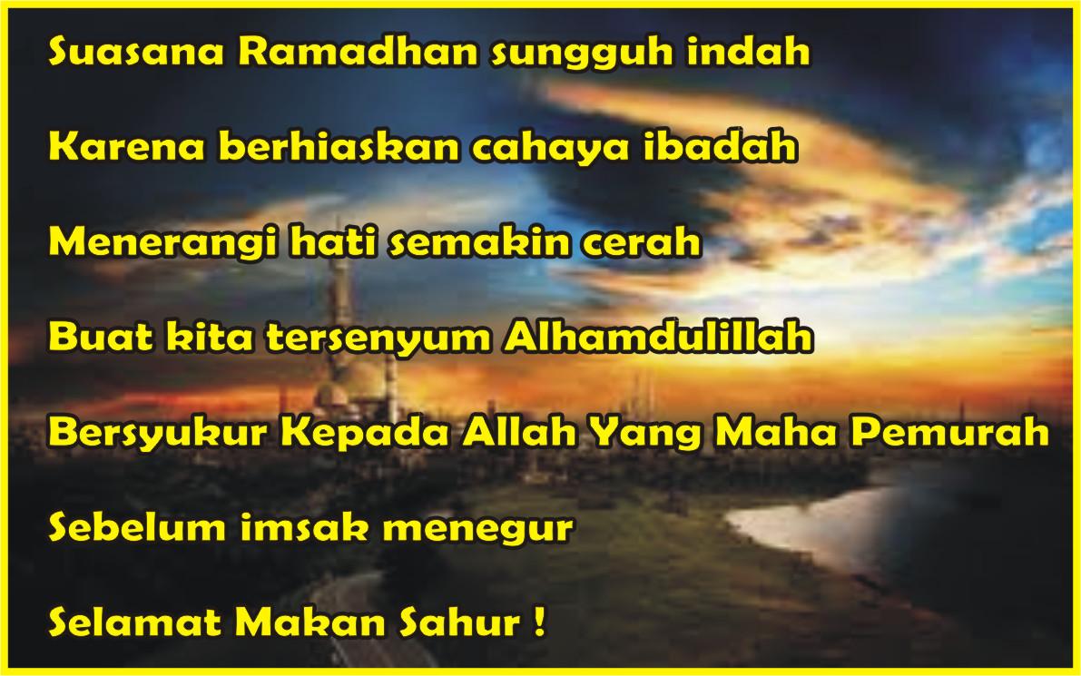 Sms Ucapan Selamat Sahur Indonesiadalamtulisan Terbaru 2014