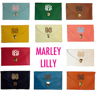 Marley Lilly Monogrammed Luxe Clutch