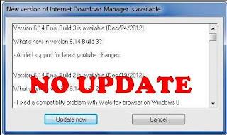 Cara Menghilangkan Tab Menu IDM Update
