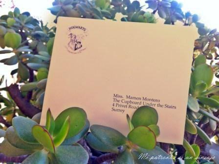 carta Hogwarts personalizada