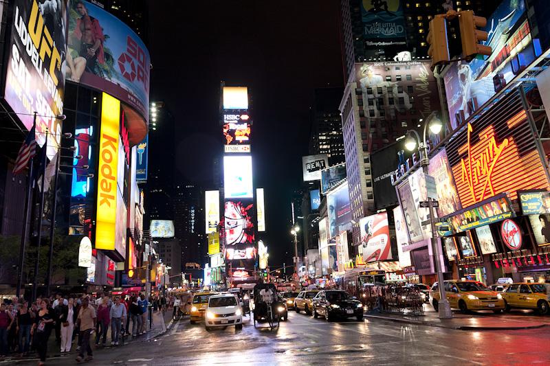 Times Square night New York US USA