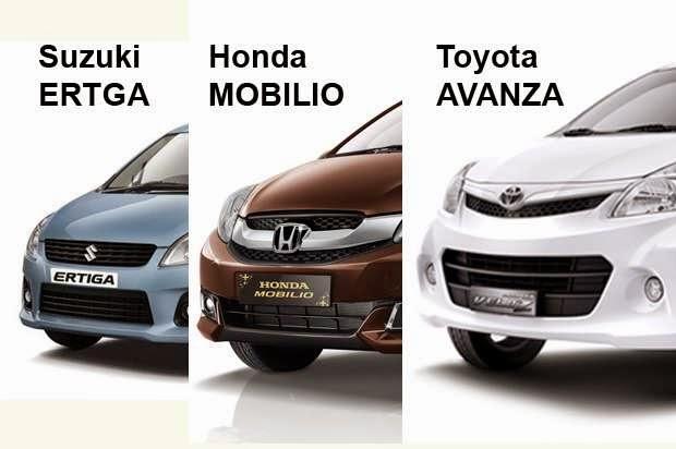 Honda Mobilio, Toyota Avanza & Suzuki Ertiga 2015
